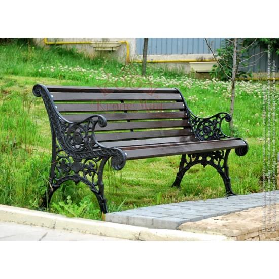 Cast Iron Garden Bench OSLO