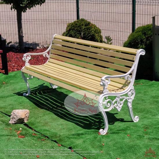 Cast Iron Garden Bench With Backrest And Armrest Lyon Fr Kronemag
