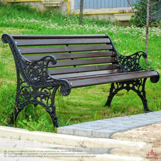 Outdoor Cast Iron Bench OSLO-FR