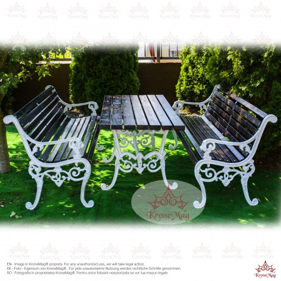 Cast Iron Garden Furniture Set S.LYON 2