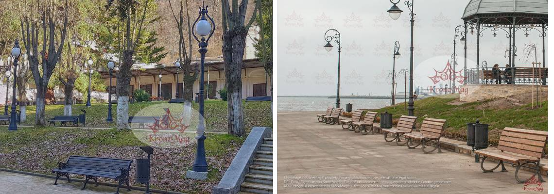 Outdoor benches for parks
