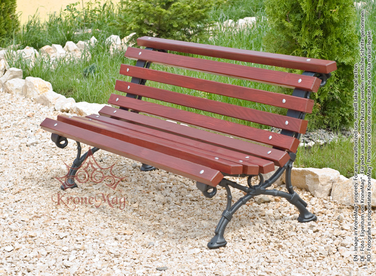 Cast iron and wood park bench 701 fr - Wood and iron garden bench ...