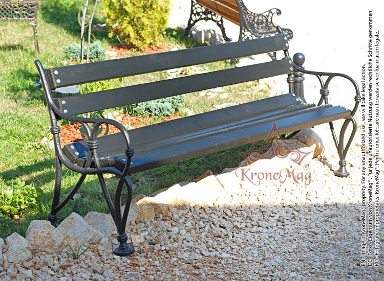 Superbe Cast Iron Garden Bench AMSTERDAM FR