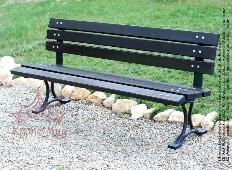 Cast Aluminum Garden Bench MINSK AR