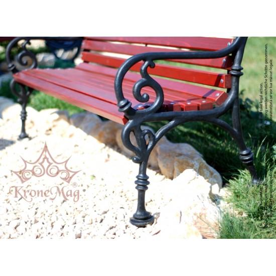 Cast Iron Garden Bench VARNA 3