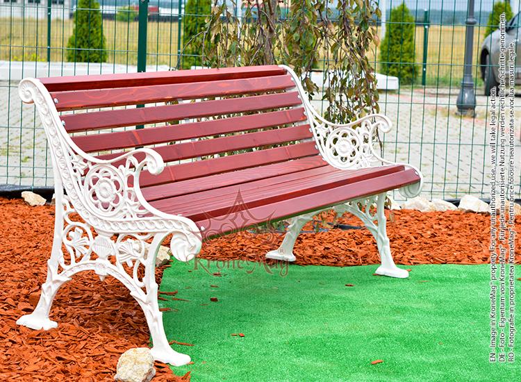 Cast Aluminum Garden Bench OSLO AR