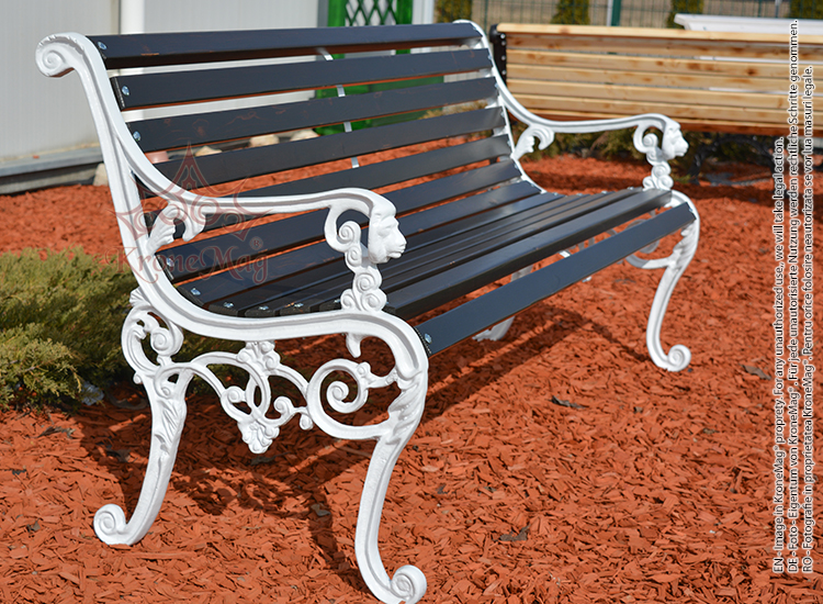 Lion Head Cast Iron Garden Bench Lyon Fr