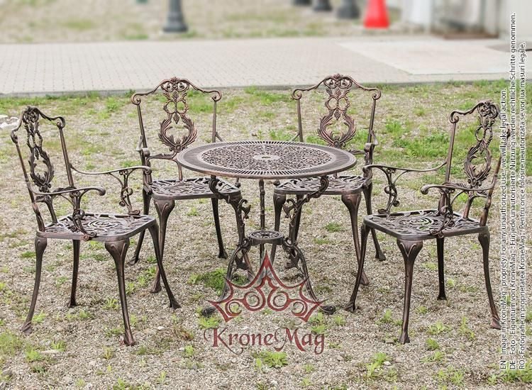 Aluminum Outdoor Bistro Set Messold 4f Table And Bistro Armchairs