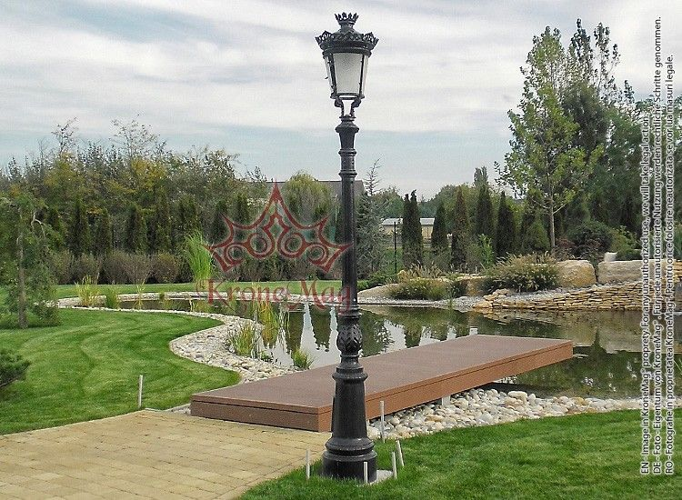Cast Iron Garden Lighting Post R 1b