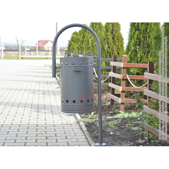 Outdoor Litter Bin with Ashtray UT2.S