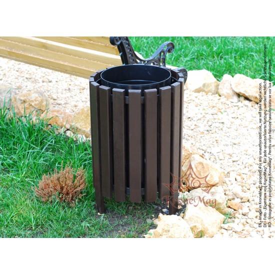 Wood Litter Bin Waste Bin Urban 6 Kronemag